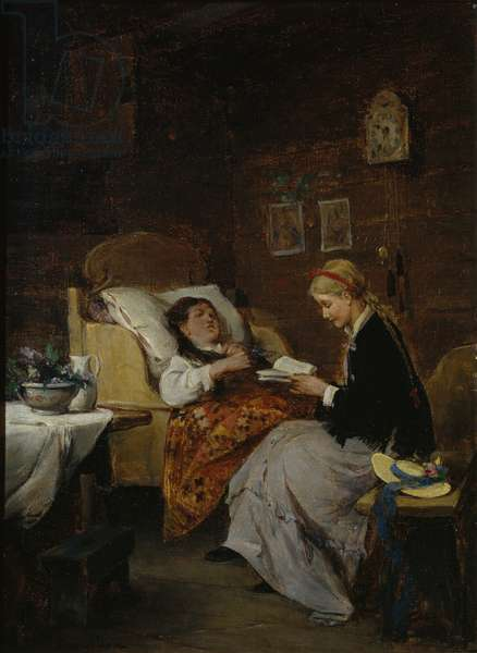 Visit to a Patient (oil on canvas)