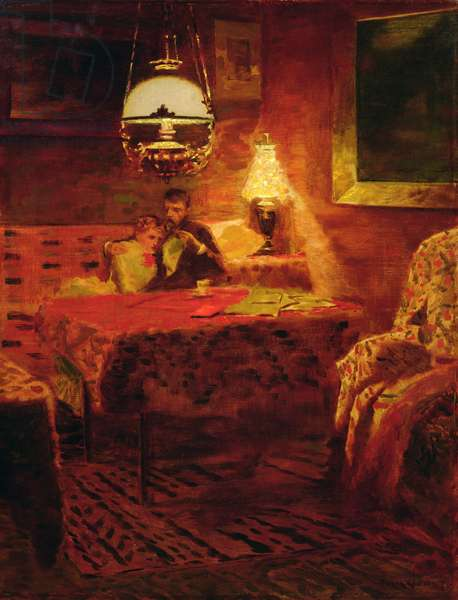 Interior from Paris, 1882 (oil on canvas)