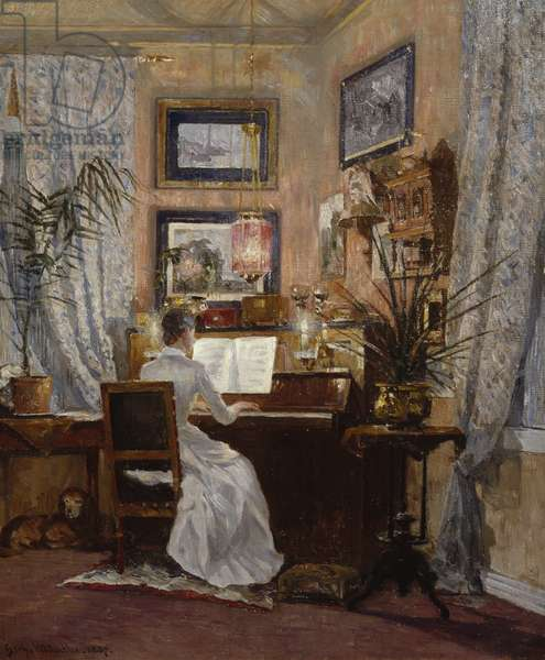 The home in Sandvika, 1887 (oil on canvas)