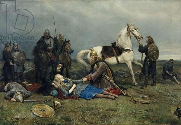 Valkyrie's Death, 1880 (oil on canvas)