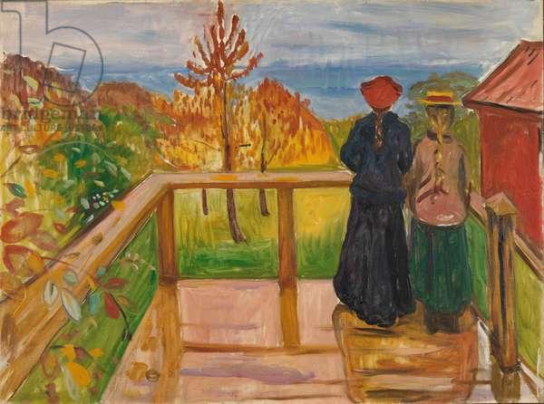 On the Veranda, 1902 (oil on canvas)