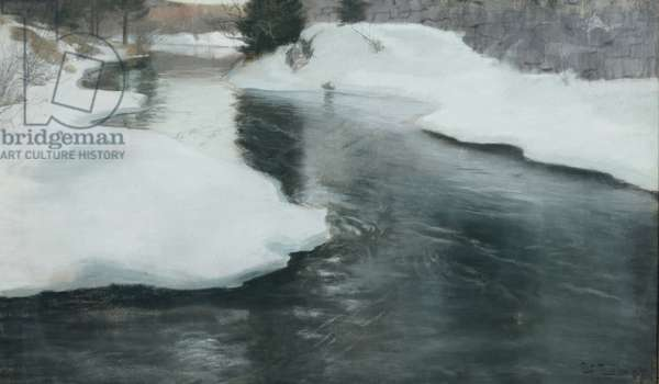 Spring Thaw, 1887 (pastel on paper)