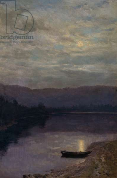 Moon Rise by the Solevatne (oil on canvas)