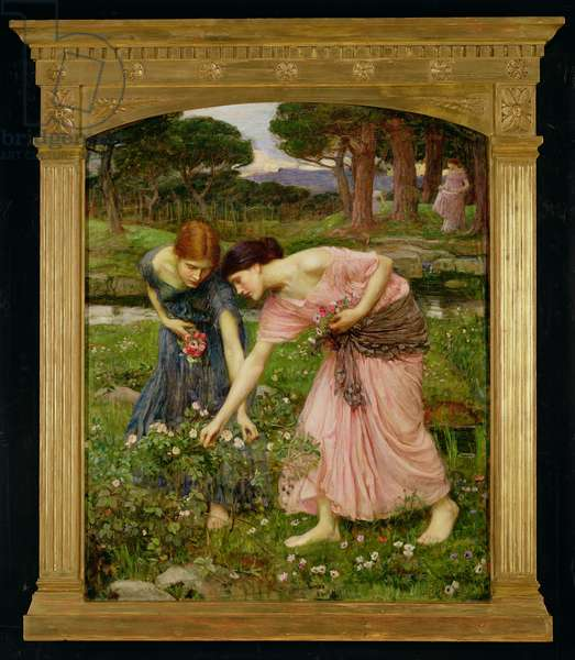 'Gather Ye Rosebuds While Ye May', 1909 (oil on canvas)