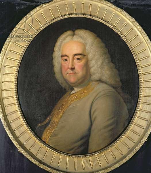 George Frederick Handel (oil on panel)