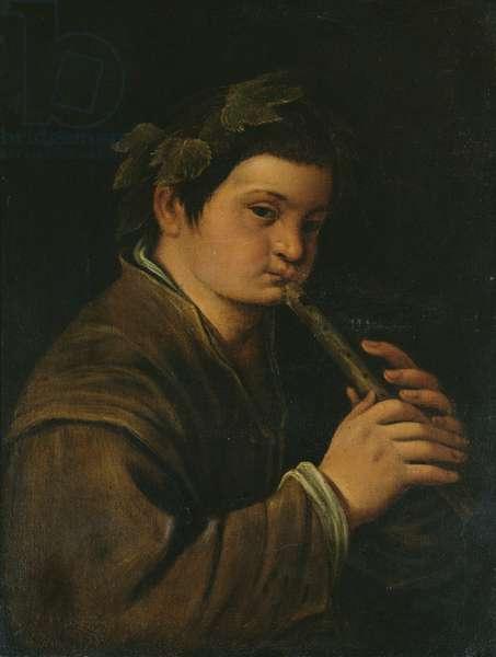 A boy as Bacchus (oil on canvas)