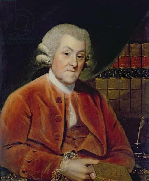 Sir John Hawkins, 1786 (oil on panel)