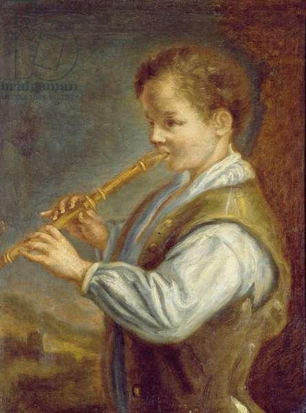 The Flautist (oil on canvas)
