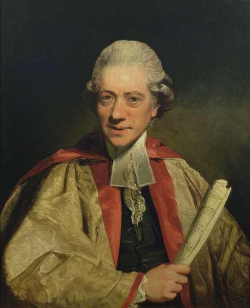 Portrait of Dr. Charles Burney (oil on canvas)