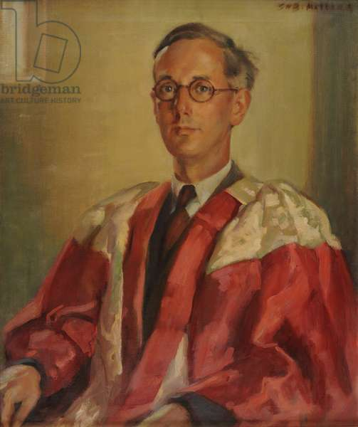 Portrait of Professor Sir Jack Westrup (oil on canvas)