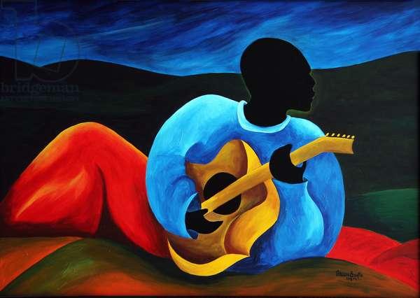 Ti-Jean le guitariste, 2008 (acrylic on masonite)