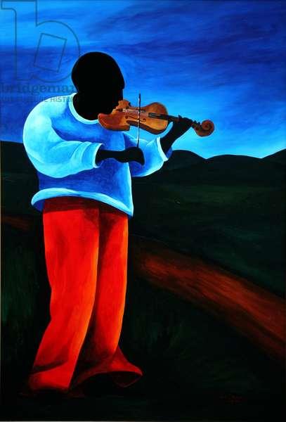 Ti-Jean le violoniste, 2008 (acrylic on masonite)