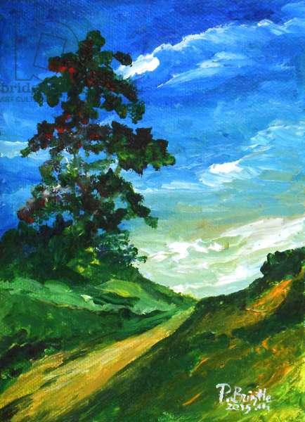 The old oak, 2015 (acrylic on canvas)