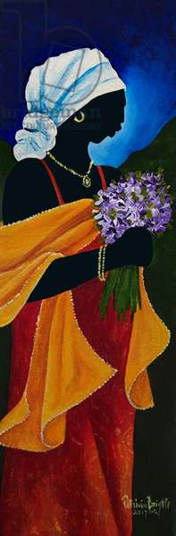 Resham shawl, 2018, (acrylic on canvas)