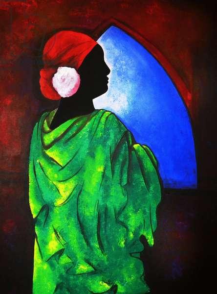 Camelia Rose, 2008 (acrylic on canvas)