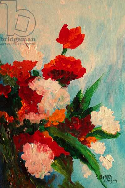 Capricious carnations, 2017 (acrylic on canvas)