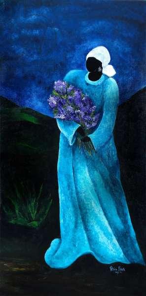 La Dame en Bleu, 2009 (acrylic on canvas)