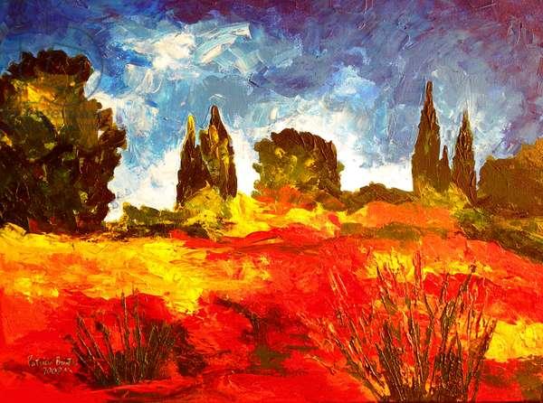 Atumn Breeze, 2008 (acrylic on canvas)