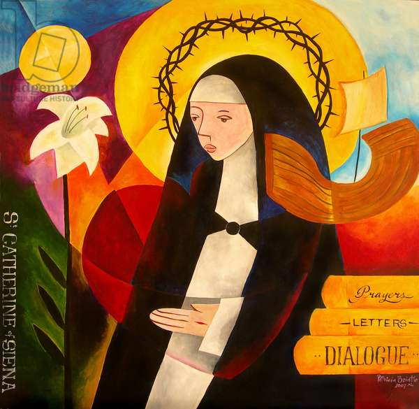 St. Catherine of Siena, 2007 (acrylic on masonite)