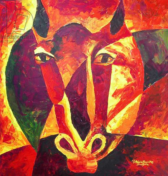 Equus reborn, 2009 (acrylic on masonite)