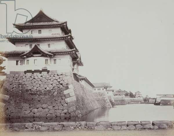 The Inner Moat, Castle of Edo, 1868/69 (b/w photo)