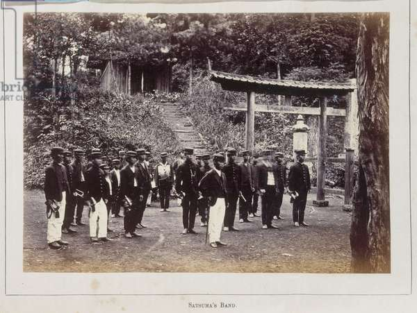 Satsuma's military band, from the illustrated periodical The Far East, 1870s