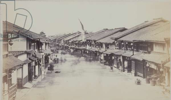 Gion, Kyoto, from the illustrated periodical The Far East, 1870s