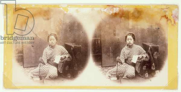 A Girl with a Pipe and Fire Box, 1860's (photo)