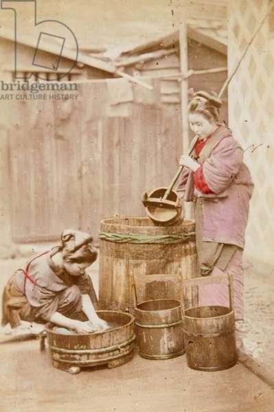 Doing Washing, c.1880