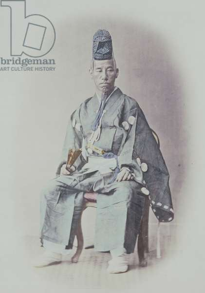 Prince Awadjima in Full Court Dress, 1867 (hand coloured photo)