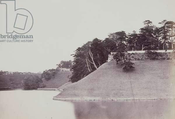 The Tycoon's (the Shogun's) Palace, Yedo, 1863-66 (b/w photo)
