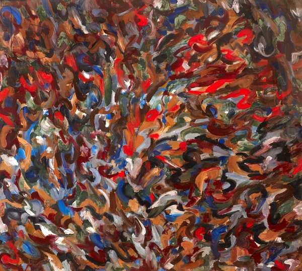 Windy Garden (oil on canvas)