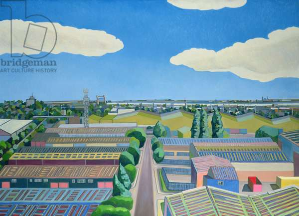 Thames Gateway, Summer, 2005/6 (oil on canvas)