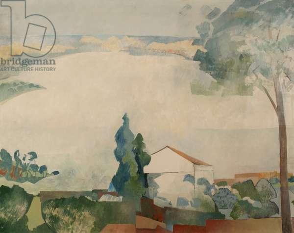 Landscape Haute Loire 1 (oil on canvas)