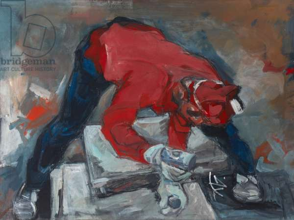 The Stone Cutter, c.1984-86 (oil on canvas)