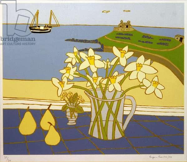 Daffodils (screen print)
