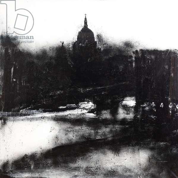 Landscape No.739, 2004 (acrylic & shellac on canvas)