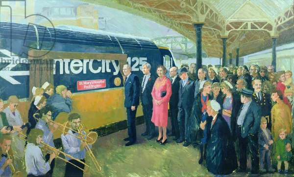 Naming of the Intercity 125 Engine, 1987 (oil on canvas)
