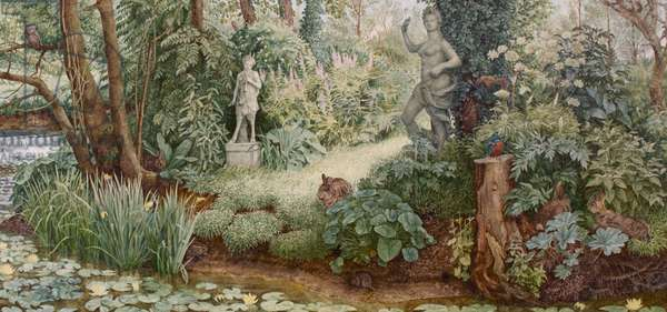 The Garden of Pan, 1985 (oil on canvas)