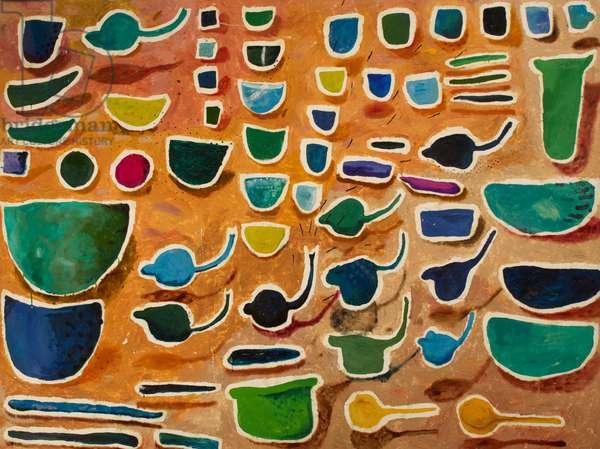 Ivory Coast Plastic, before 1990 (oil on canvas)