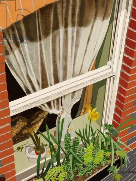 Basement Window, 1998 (oil on canvas)