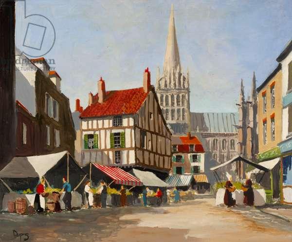 Untitled (Breton Market),  (oil on board)