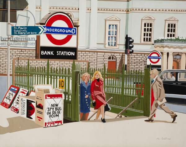 Bank Station Underground (acrylic on canvas)