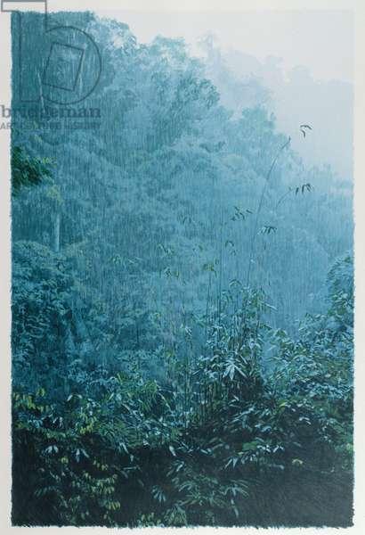 Rain, 1992 (screenprint)
