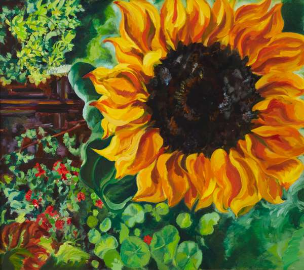 A Sunflower, 1997 (acrylic on canvas)