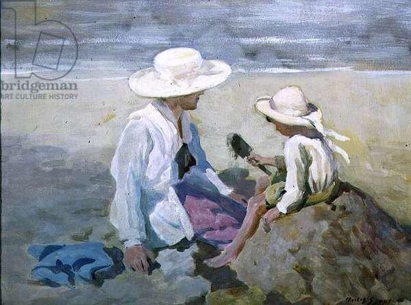 The Sandcastle, c.1918 (tempera on board)