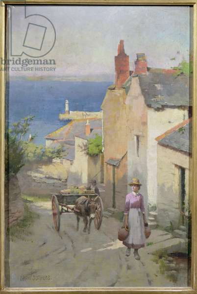 Newlyn from the bottom of Adit Lane, 1886-94