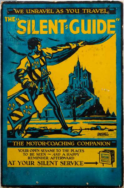 Silent Guide advertising poster by Fallows & Stanfield (colour litho)