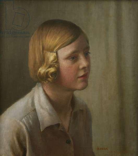 Portrait of Rhoda, 1931 (oil on canvas)