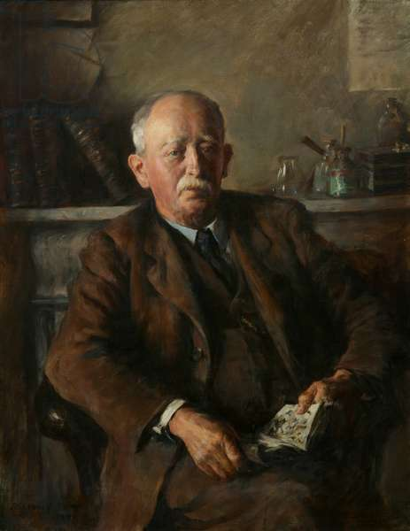 Portrait of James Jewill Hill, 1904 (oil on canvas)